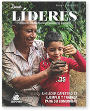 A coffee leader is an example and works for his community.